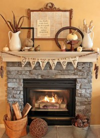 How to Decorate the Fireplace for Thanksgiving - The Blog ...
