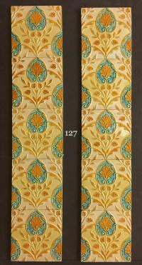 Minton, Hollins & co majolica tiles - Fireplace Restoration