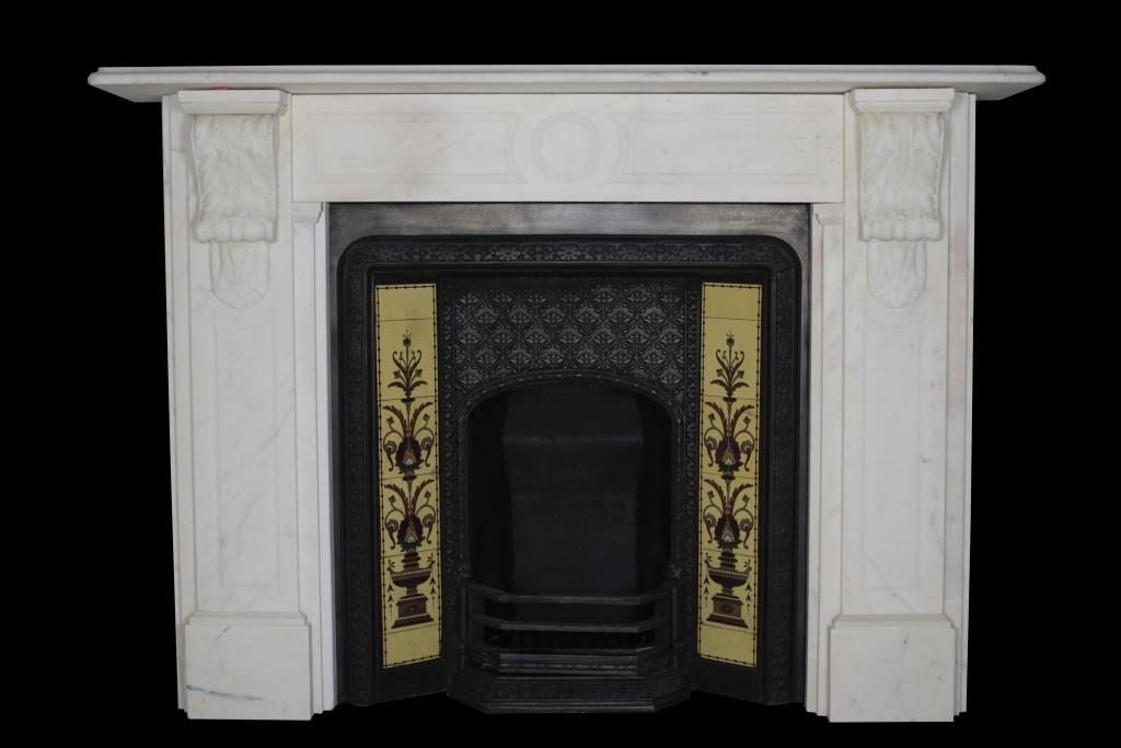 Victorian Tiled Insert  Fireplace Restoration