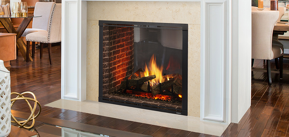 Majestic Marquis II SeeThrough Direct Vent Gas Fireplace