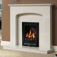 Delicate Be Modern Tasmin Micro Marble Fireplace Suite ...