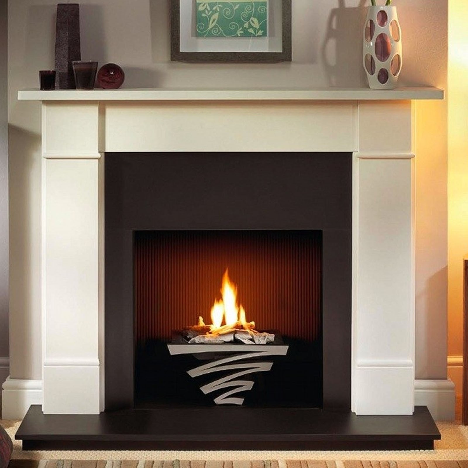Cast Iron Inserts For Fireplaces Traditional Wooden