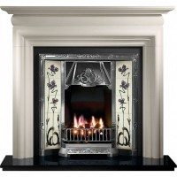 Gallery Asquith Limestone Fireplace with Toulouse Cast ...