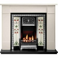 Gallery Brompton Limestone Fireplace with Northmoor Cast ...