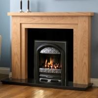 PureGlow Hanley Oak Finish Fireplace Suite - Fireplaces Are Us