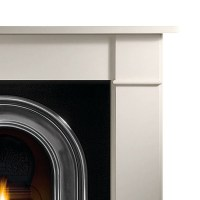 Gallery Brompton Limestone Fireplace with Coronet Cast ...