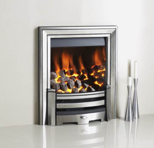 Crystal Monarch Stoke Gas Electric Fireplace Centre