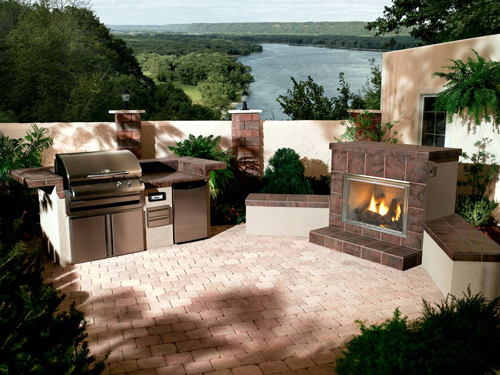 Outdoor Fireplaces  Fireplace Stone  Patio