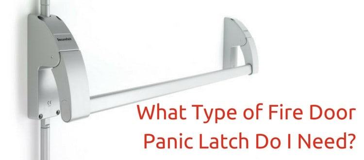 fire door panic latch