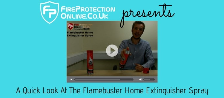 A Quick Look At The Flamebuster Home Extinguisher Spray
