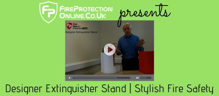 Designer Extinguisher Stand | Stylish Fire Safety