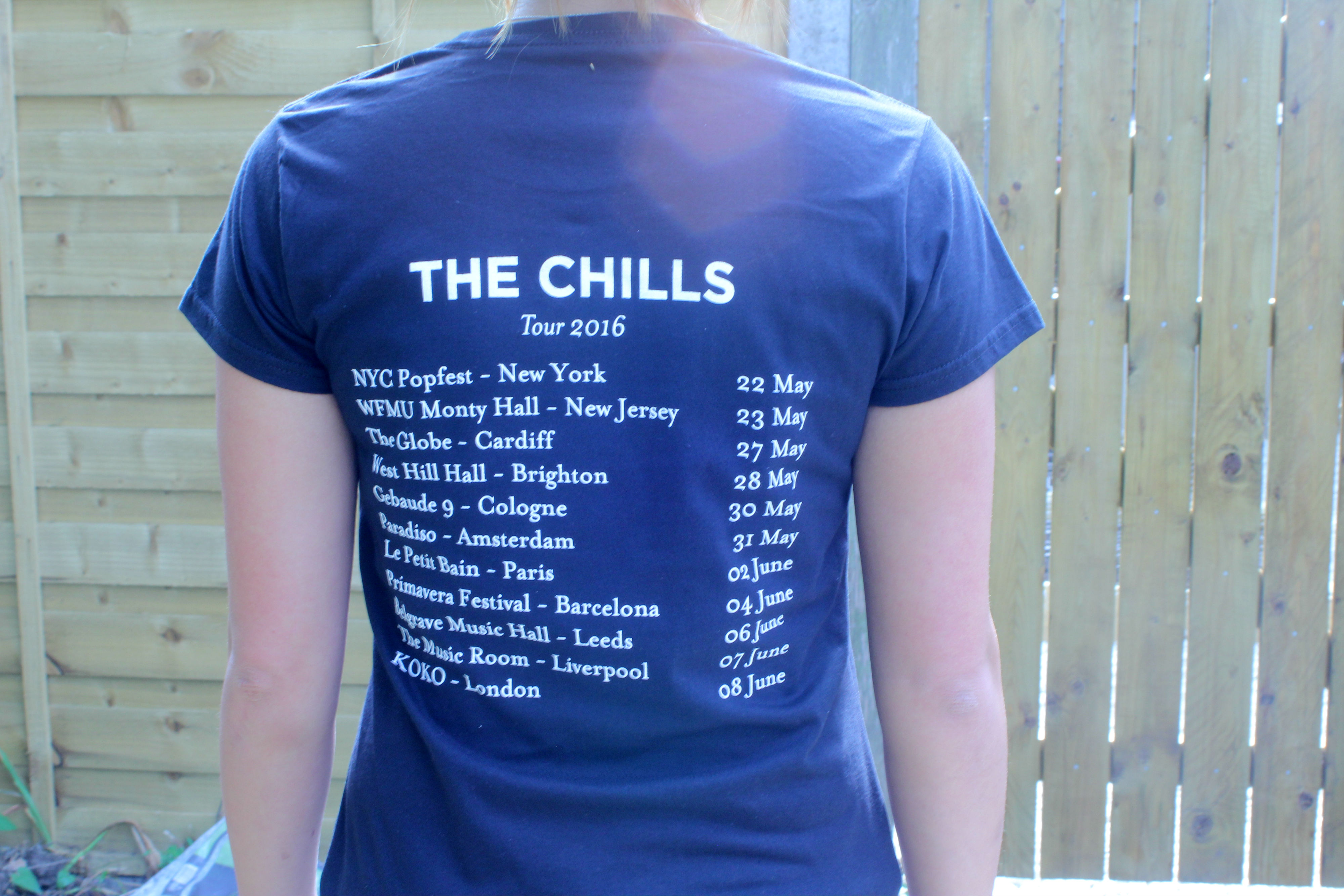 The Chills 2016 Tour T Shirt Fire Records