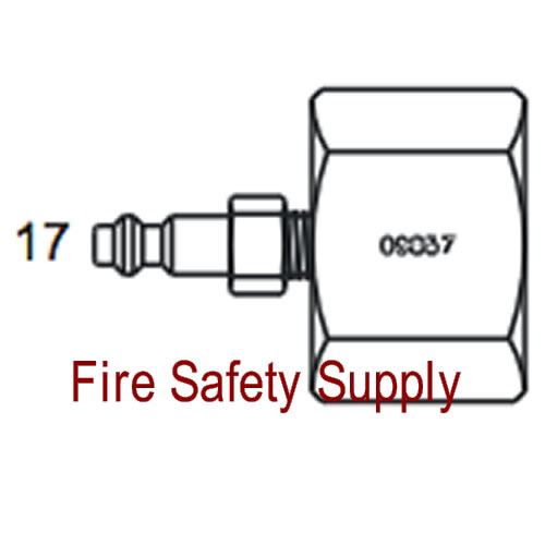 Amerex 09857 Adapter Assembly Recharge 250
