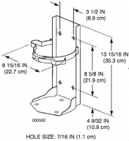 Sentry Dry Chemical and Cleanguard Extinguisher Brackets