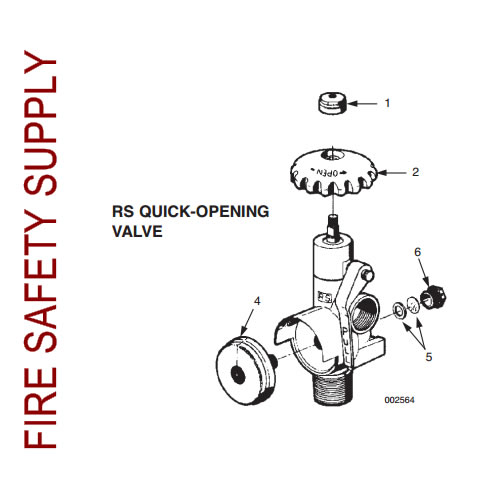Ansul 419100 Quick Opening Valve Assembly, 300-400