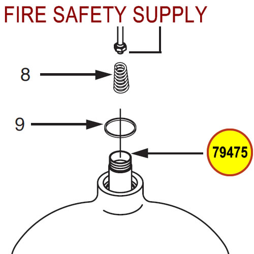 Ansul R 102 Wiring Diagram 79475 Ansul Sentry Siphon Tube Fire Safety Supply