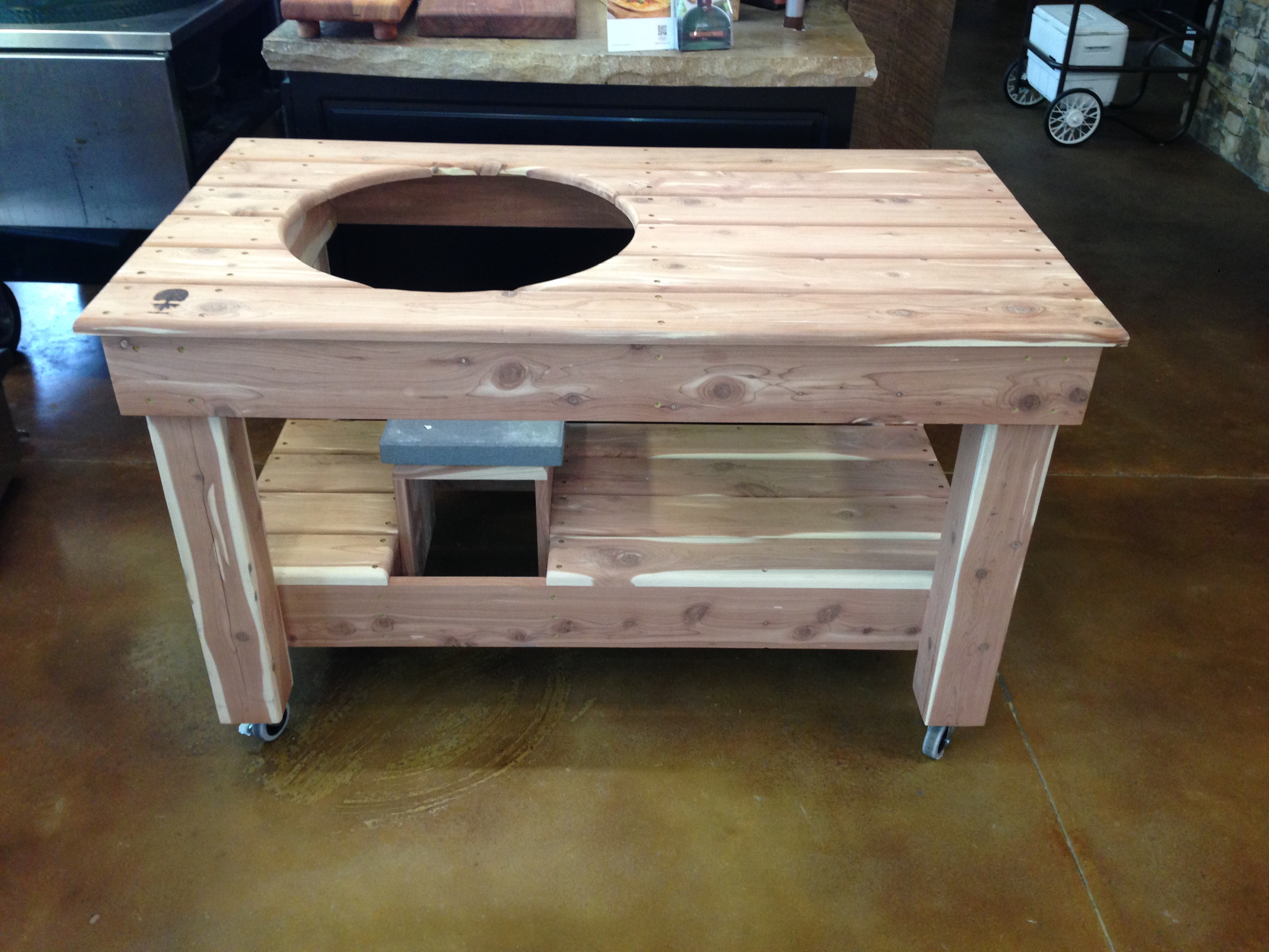 unfinished pine kitchen cabinets dinette sets taproot grill table - pt fireside outdoor kitchens