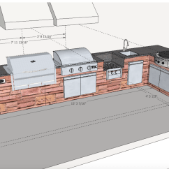 Outdoor Kitchen Plans Free Kitchens Jacksonville Fireside Spotlight A Serious Cook 39s