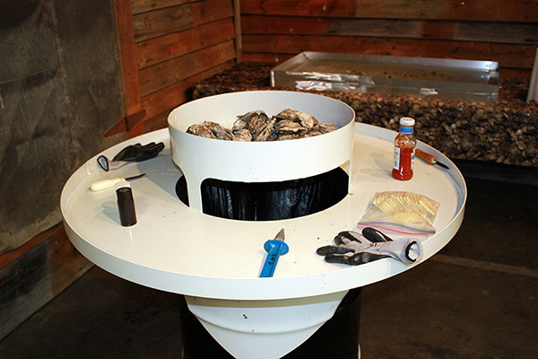 Oyster Table Fireside Outdoor Kitchens