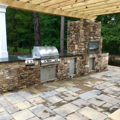Outdoor Kitchen Oven Cabinets Indianapolis Built In Gas Pizza Fireside Kitchens Just Imagine All The Fun You Could Have With A Powered Your Backyard Whether Are Dreaming Planning Designing Or Purchasing