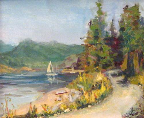 Sailboat at Rebecca Spit