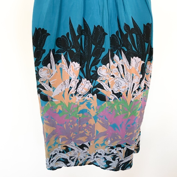 Anthropologie Moulinette Soeurs Island Nightfall Silk Maxi Dress size 0