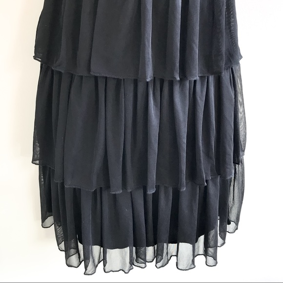 City Triangles beaded embroidered tiered party dress size medium