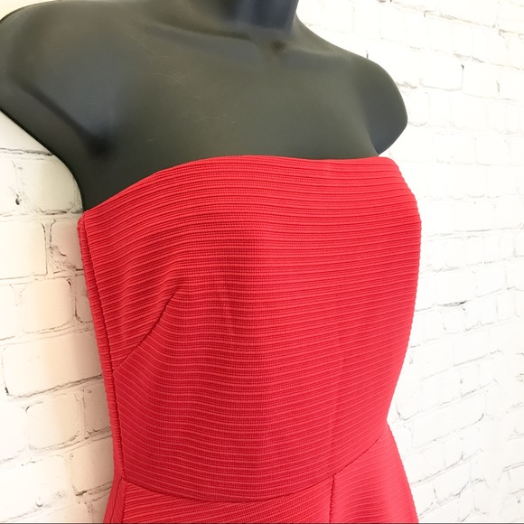 The Limited red strapless party Dress size XS