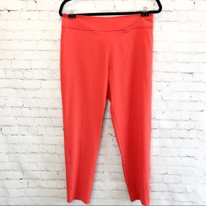 Sandro Ferrone orange cropped pants size 42 IT (US 6)