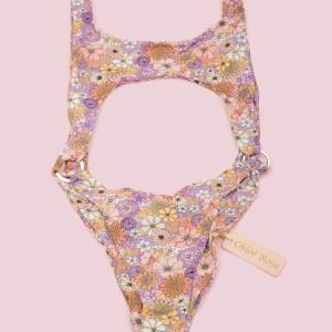 Chloe Rose Sun Chaser One Piece cut out swimsuit in Floral Multi