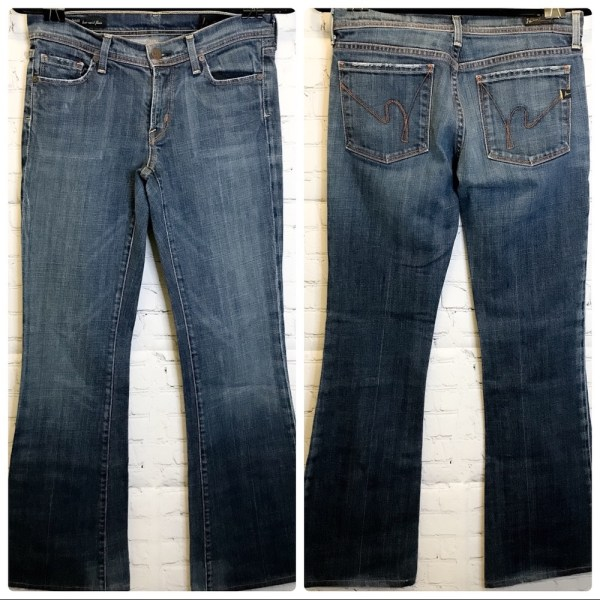 Citizens of Humanity 'Ingrid' low waist flair leg jeans size 27