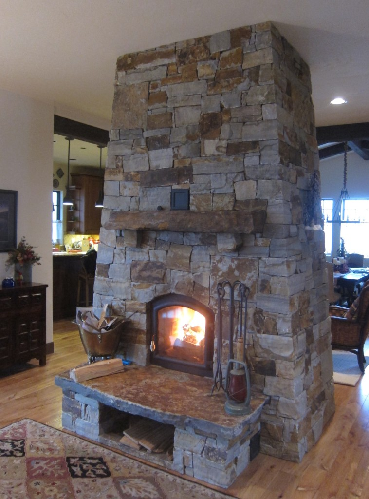 Lodge Style Masonry Heater Firespeaking