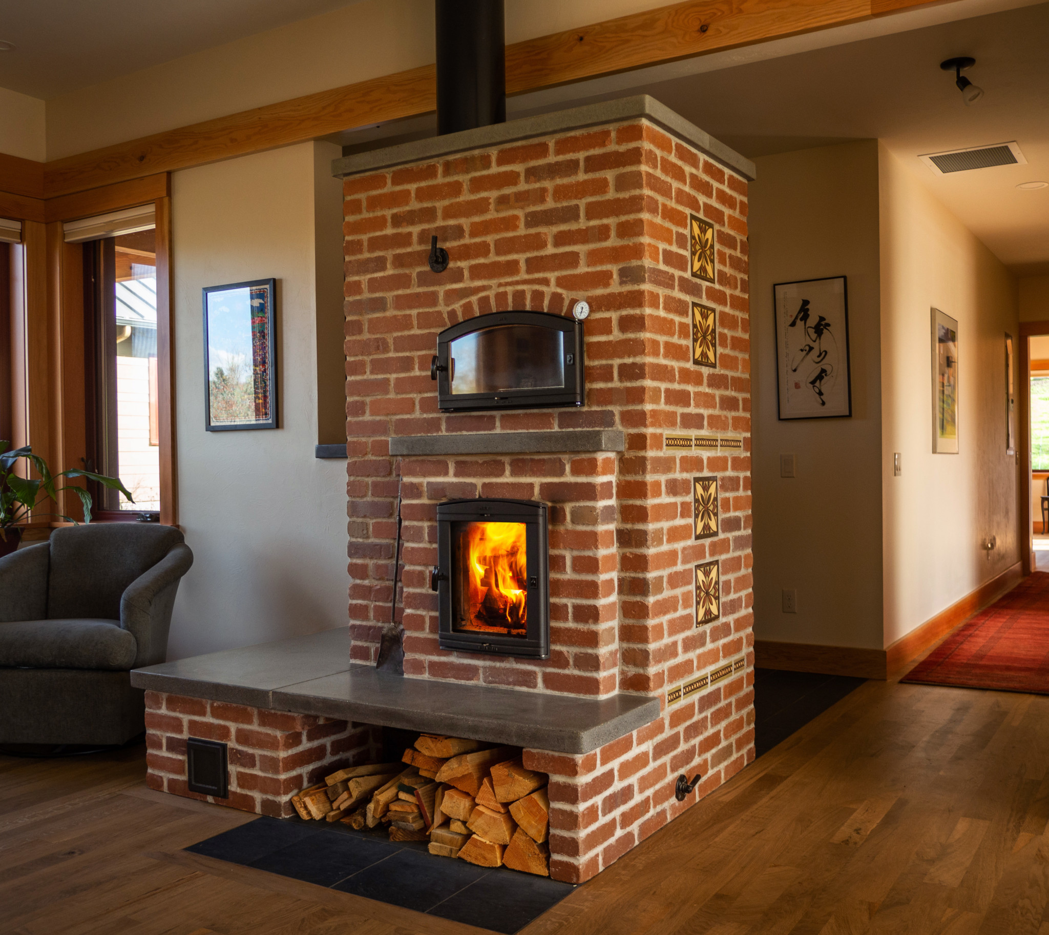 Wintergreen Masonry Heater Highlighted