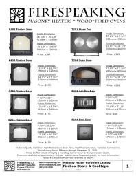 Firespeaking Masonry Heater Hardware Catalog Image