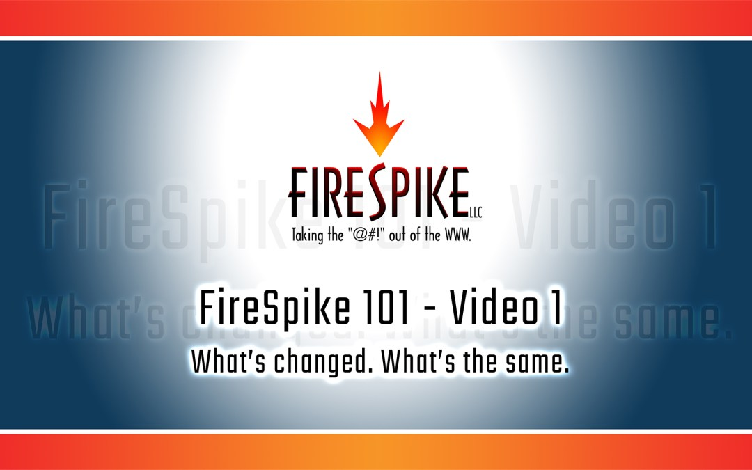 FireSpike 101, Video 1 – Three Things That Have Changed in Websites in 19 Years & One Thing That's the Same