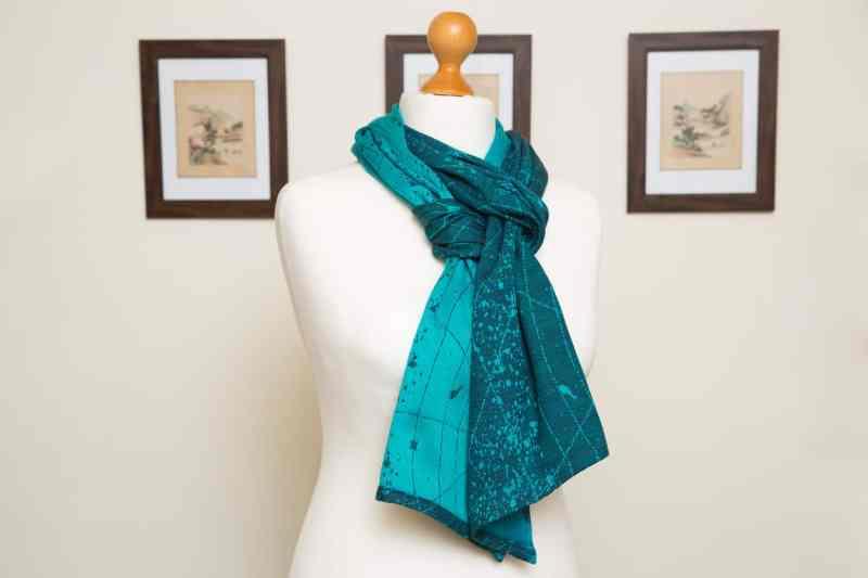 Blue Grad Navy Starmap scarf