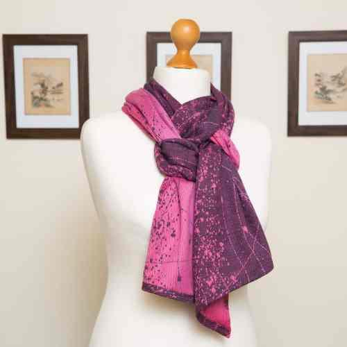 Pink Grad Navy Starmap scarf