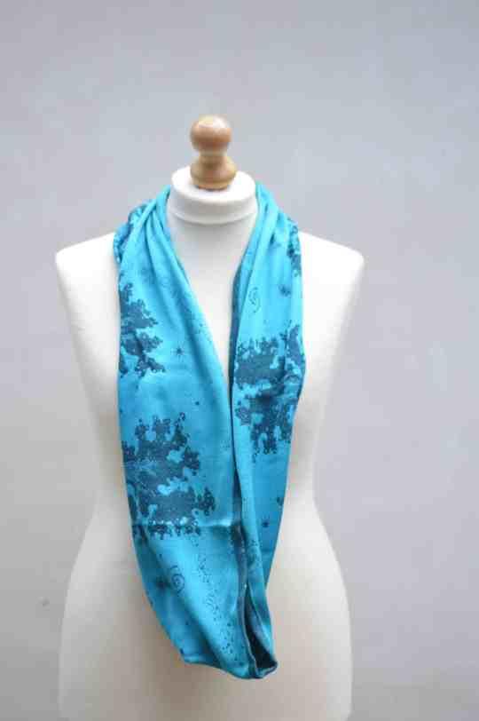 night's watch cyano seafoam loop scarf