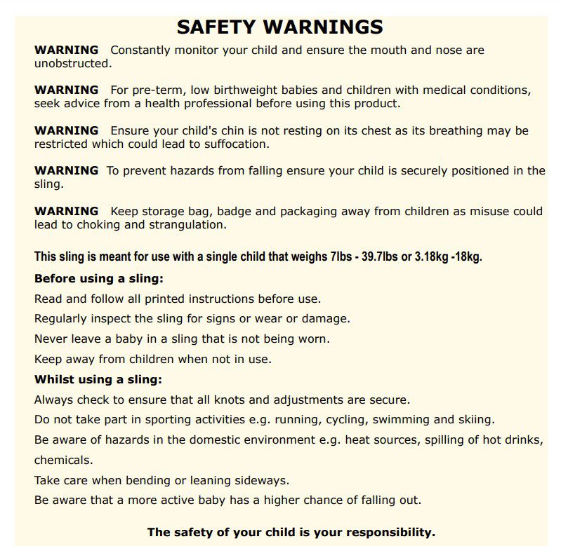safety text