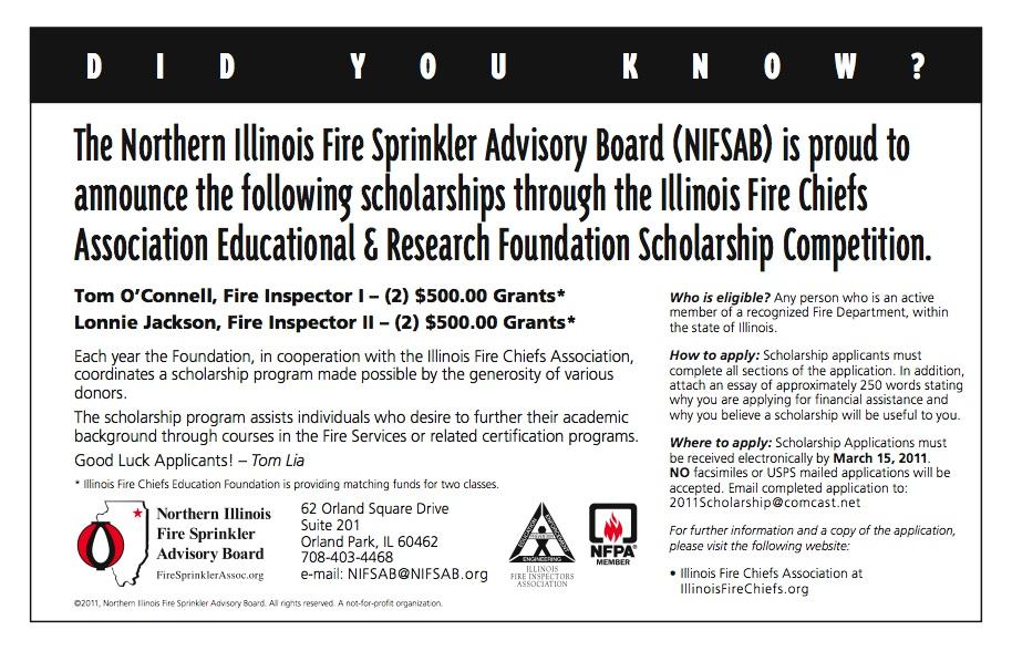 Apply for Illinois Fire Chiefs Association Scholarship