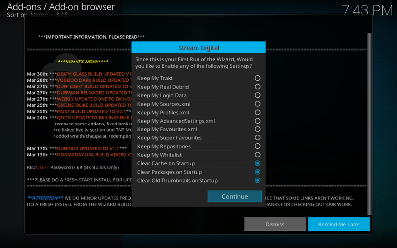 settings for bk links kodi build