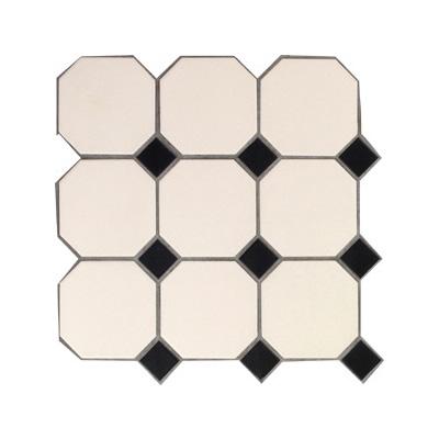 octagon white black dots panel