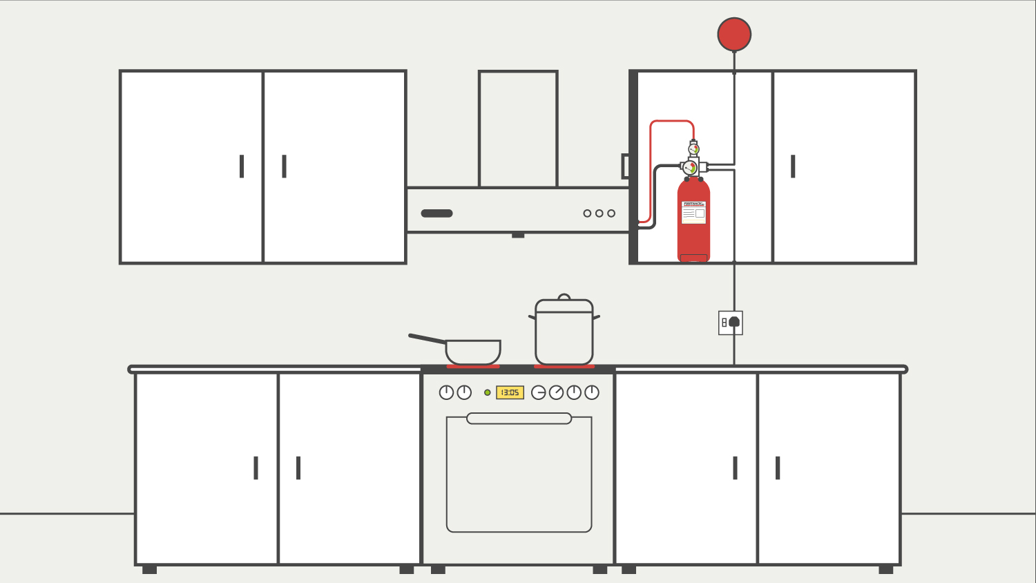 kitchen hood fire suppression system installation installing countertop fryertrace firetrace