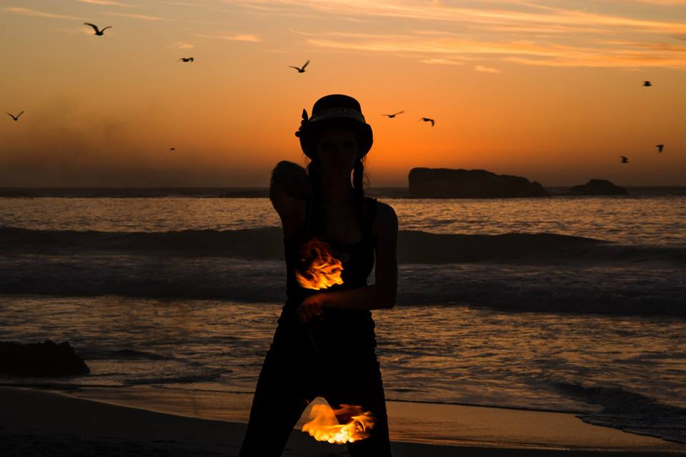 Fire on the beach - photo by Stuart Tappe