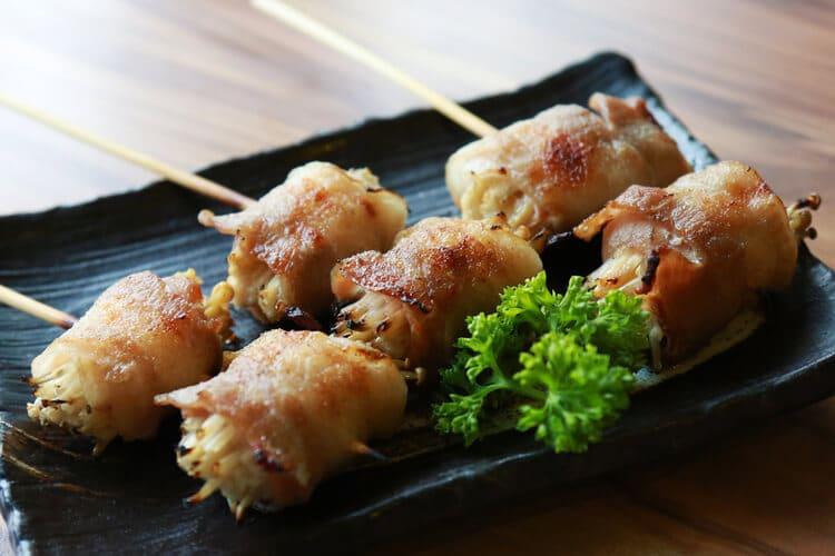 金針菇豬肉捲串燒