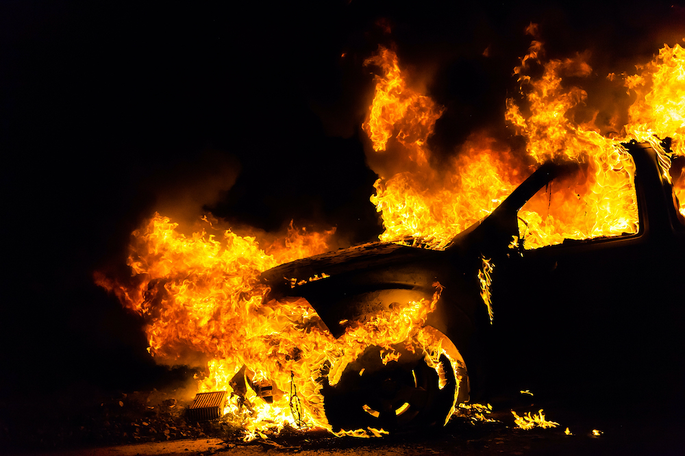 Electric Car Battery Fires Can Take Up to 24 Hours to Extinguish