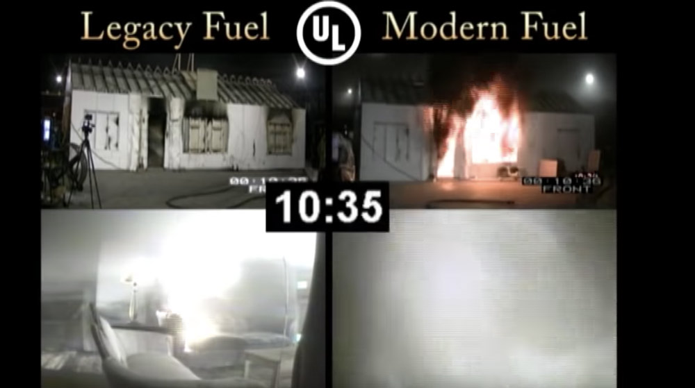 Accelerated fire in Legacy vs Modern Homes – Fire Safety Week Reminder