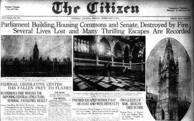 February in fire history – Parliament Hill fire
