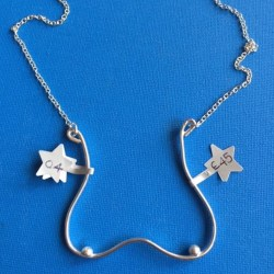 Starfish Boobs necklace close up