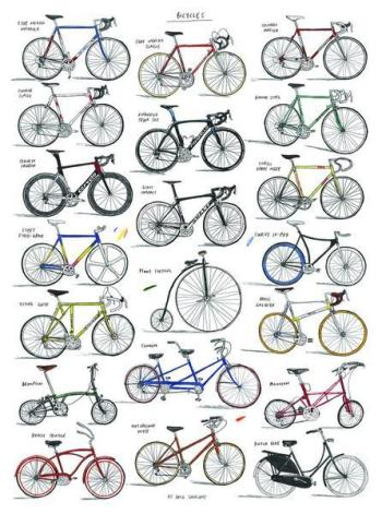 David Sparshott Bicycles print